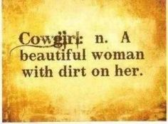 Cowgirl with legit cows... :D