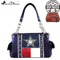 FREE SHIPPING! Montana West Concealed Carry Purse and Wallet Set -- Texas Pride