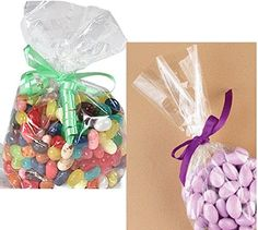 "500-3/"" x 5/"" CELLOPHANE LOLLIPOP BAGS  WITH FREE SILVER TWIST TIES"