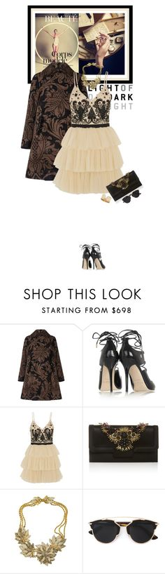 """""""When you stumble make it part of the dance..."""" by matilda66 ❤ liked on Polyvore featuring Simone Rocha, Jimmy Choo, Alice + Olivia, Oscar de la Renta, Miriam Haskell and Christian Dior"""