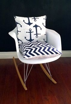 Awesome Eames Rocking Chair Cushion Cover, Dwell Studio Citrine Bella Porte And  Black And White Chevron By RockinCushions, $44.00 | NURSERY | Pinterest |  Rocking ...