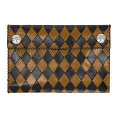 Wales Bonner - Black & Yellow Chapal Edition Diamond Wallet