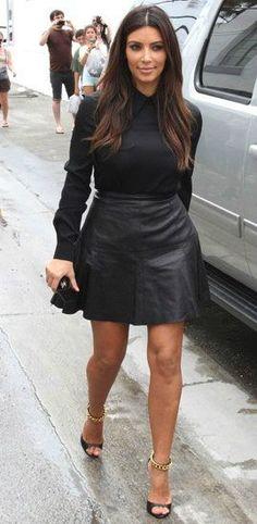 Black Blouse- Kim Kardashian - Get this look: https://www.lookmazing.com/images/view/16503?shrid=46_pin