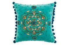 Turquoise cushion, €33, Matthew Williamson at Debenhams