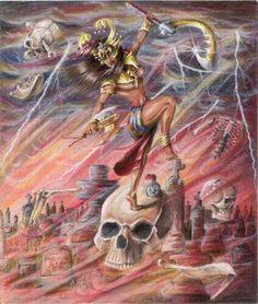 Oya Goddess, Oya Orisha, Orishas Yoruba, Yoruba Religion, Mythology Books, African Culture, Divine Feminine, African Beauty, Gods And Goddesses