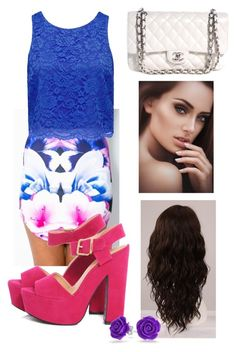 """night out"" by iloveharrystyles2 ❤ liked on Polyvore featuring Forever New, AX Paris, Chanel, WigYouUp and Bling Jewelry"