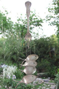 Carillons éoliens de cuillère en argent poisson par nevastarr