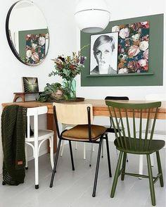 Modern Home Decor Interior Design Home Office Design, Home Design, Interior Design Living Room, Interior Decorating, Dinner Room, Room Decor, Wall Decor, Wall Mural, Deco Design