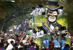 7 самых грандиозных карнавалов в мире. Марди-Гра – карнавал в Новом Орлеане.