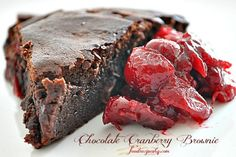 """I don't like brownies and this dessert is not a brownie. Yes, it is named """"Chocolate Cranberry Brownie"""" but it is somewhat different from the popular american sweet. I took advantage of the word """"brownie"""" to give an idea of the consistency: very dense and full in chocolate.Since it doesn't contain flour, is a dessert suitable for people who need to follow a celiac diet. My recipe is aslightlymodified version of an old traditionalNeapolitancake called """"caprese"""", a delicious dessert made…"""