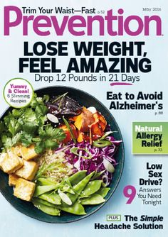 Get articles about healthy solutions for losing weight, preventing diseases, and more with Prevention magazine. Order your subscription today! Vegan Breakfast Recipes, Good Healthy Recipes, Headache Solution, Natural Allergy Relief, Bacon And Egg Casserole, Slimming World Overnight Oats, Healthy Weight Loss, The Help, Health Fitness