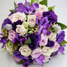 Purple Flower Bouquets | Lisianthus flower arrangement