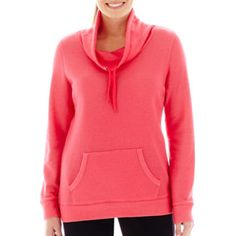 Made For Life™ Long-Sleeve French Terry Cowlneck Tunic  found at @JCPenney Large, Azalea