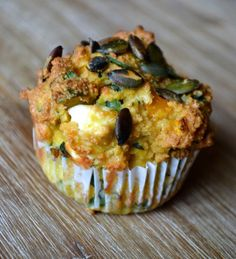 A delicious almond flour muffin filled with cubed butternut squash, feta and shredded spinach. Paleo, Grain/Gluten Free, Dairy Free, SCD