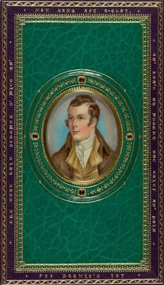 Robert Burns - 1787 edition of Poetical Works and Letters of Robert Burns / It was lavishly rebound for Charles J. Sawyer (1876?-1931), in the 20th century, probably by Sangorski & Sutcliffe, in London. The binder even included a miniature portrait of the author on the back cover.