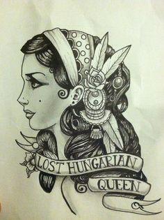 Gypsy Girl Tattoo Drawing | ... art drawings people 2012 2015 ...