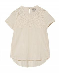 Lace Eyelet Tee from Otte NY