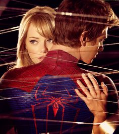 new Spiderman movie , starring Andrew Garfield and Emma Stone.      I've had a soft spot for him ever since The Social Network, but after last night, there's now a third entry into my celebrity crush draw. Ryan Gosling, Ryan Reynolds, meet the newest lanky, awkward, best-tressed love of my life. Swooooooon.