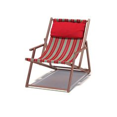 Highly detailed model of deckchair with all textures, shaders and materials. It is ready to use, just put it into your scene.