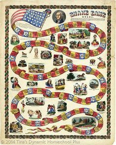 480px George Washington snake game thumb 13 Free Printable History Board Games