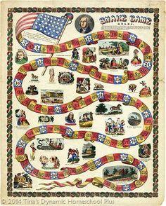 480px George Washington snake game thumb 13 Free Printable History Board Games