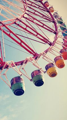 ↑↑TAP AND GET THE FREE APP! Сolorful Ferris Wheel Blue Simple Cool HD iPhone 6 plus Wallpaper
