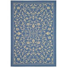 Safavieh Courtyard Blue/Natural 9 ft. x 12 ft. Area Rug-CY2098-3103-9 at The Home Depot