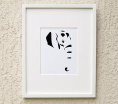 Elephant Art - Minimalist Art Print - Instant Art - Digital Download by MinimalDigital on Etsy