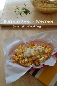 Buffalo Ranch Popcorn #snacks #appetizers