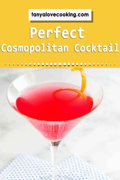 A perfectly delicious cosmopolitan recipe sure to please even the pickiest palate! Drinks Alcohol Recipes, Cocktail Recipes, Drink Recipes, Alcoholic Drinks, Popular Recipes, Popular Food, Cosmopolitan Cocktails, Most Popular Drinks, Blended Drinks