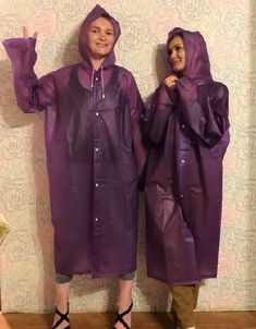 Rain Wear, Pink, Purple, Raincoat, Capes, Plastic, Orange, Fashion, Jackets