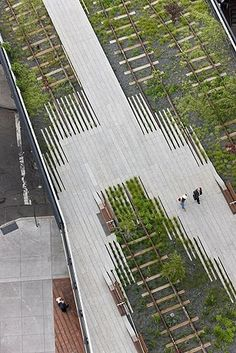 The Highline from above! Notice the interesting pattern the path makes.