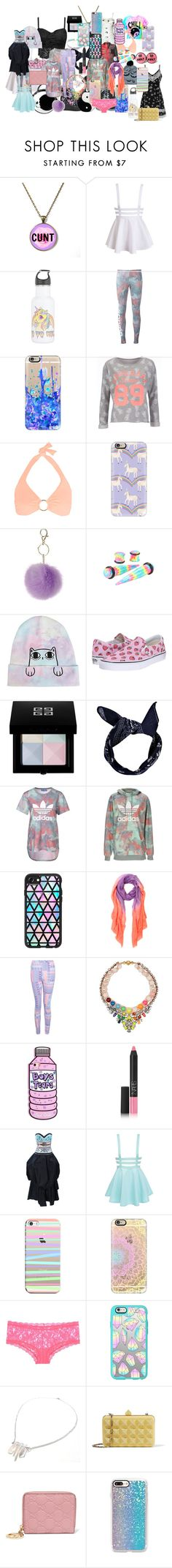 """""""Untitled #6"""" by yougothacked-1 ❤ liked on Polyvore featuring Disturbia, Betsey Johnson, adidas, Casetify, Superdry, Melissa Odabash, Dorothy Perkins, Vans, Givenchy and Boohoo"""