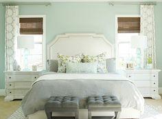 Seafoam Green Bedroom Paint Color. Bedroom. Seafoam Bedroom Paint Color. #SeafoamBedroom #PaintColor Studio McGee.