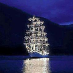 Christmas Lighted Ship Parade, Chesapeake, VA.