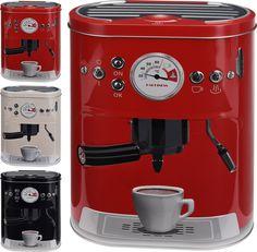 Kaffeedose Vorratsdose Blechdose Aufbewahrungsdose Dose mit Kaffeemaschine Motiv…
