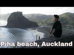 Piha beach, Kitekite falls, Auckland, New Zealand Auckland, New Zealand, Travel Guide, City, Beach, Water, Youtube, Travelling, Outdoor