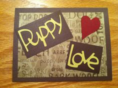 Puppy Love Card on Etsy, $4.00