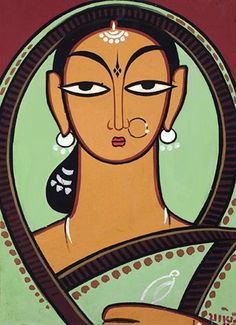 30 Breathtaking Jamini Roy Paintings that Every Art Lover should See Worli Painting, Art Painting Gallery, Durga Painting, Saree Painting, Madhubani Art, Madhubani Painting, Indian Folk Art, Indian Artist, Jamini Roy
