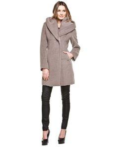 Elie Tahari 'Janine' Brown Coat