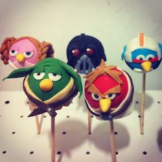 angry birds star wars pop cakes @dulces co