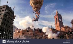 Still from 'The Adventures of Baron Munchausen' released in 1988 directed by Terry Gilliam and starring John Neville. Stock Photo Still from 'The Adventures of Baron Munchausen' released in 1988 directed by Terry Gilliam and starring John Neville. Balloon. http://www.alamy.com/stock-photo-still-from-the-adventures-of-baron-munchausen-released-in-1988-directed-69812947.html