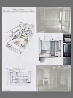 Conception graphique: Planches tendances, plans, perspectives, planches matériaux. Accompagnement pour le choix du mobilier et des ambiances... Décoration d'intérieur