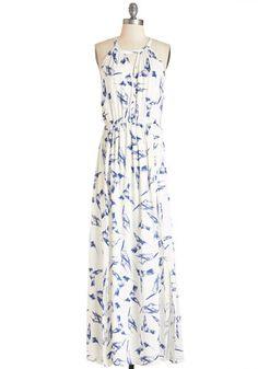 Ink Positively Dress in Hummingbird | Mod Retro Vintage Dresses | ModCloth.com