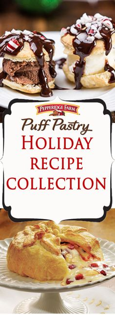 Pepperidge Farm Puff Pastry Holiday Recipe Collection. Festive, impressive recipes that make any holiday gathering or party even more special. Find all the inspiration you need with this list full of appetizers, sides and desserts. Featuring seasonal ingredients and classic dishes that will warm your kitchen and your heart.  http://www.puffpastry.com/recipe-category/836/holiday
