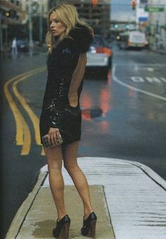 Obsessed with the low back and clutch. / Kate Moss by Bruce Weber