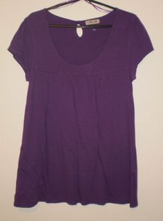 Purple short sleeved Tunic Top, Size 12
