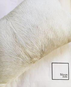 IKHAYA ZULU - pure white African Nguni Hide cushion