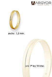 6fa4ac15fb50 Alianzas de matrimonio de oro de 18 Kilates de la prestigiosa firma ARGYOR.  Ancho de 3 milímetros