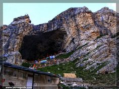 The shrine forms an important part of Hinduism, and is considered to be one of the holiest shrines in Hinduism. The cave is surrounded by snowy mountains. The cave itself is covered with snow most of the year except for a short period of time in summer when it is open for pilgrims. Thousands of Hindu devotees make an annual pilgrimage to the Amarnath cave on challenging mountainous terrain to see an ice stalagmite formed inside the cave.